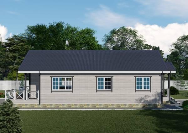 Один из фасадов фотография дачного дома проект Астапово