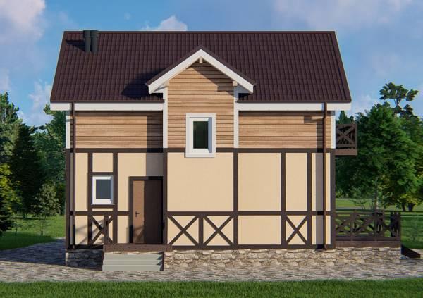 Фасад дачного дома проекта Кратово
