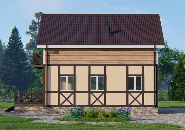 Боковой фасад дачного дома проект Кратово
