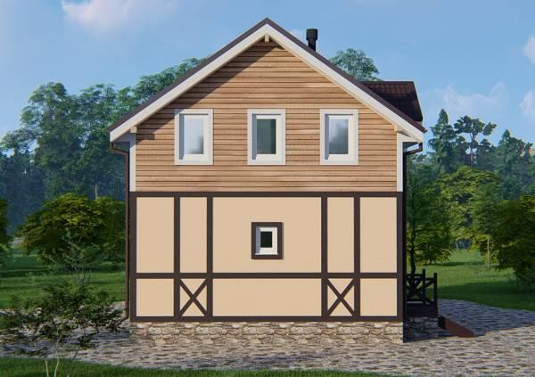3Д визуализация проекта дачного дома Кратово с мансардой.