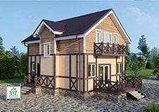 Вид на дачный дом проекта Кратово