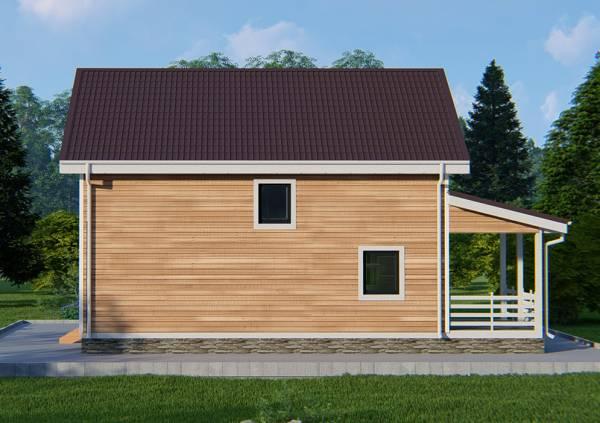 Отделка фасада дачного дома по проекту Лужники.