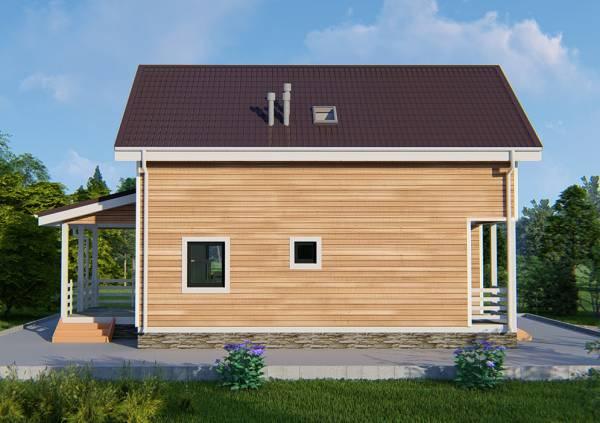 Визуализация дачного дома проекта Лужники
