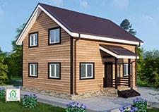 Проект дачного дома с мансардой Перхушково