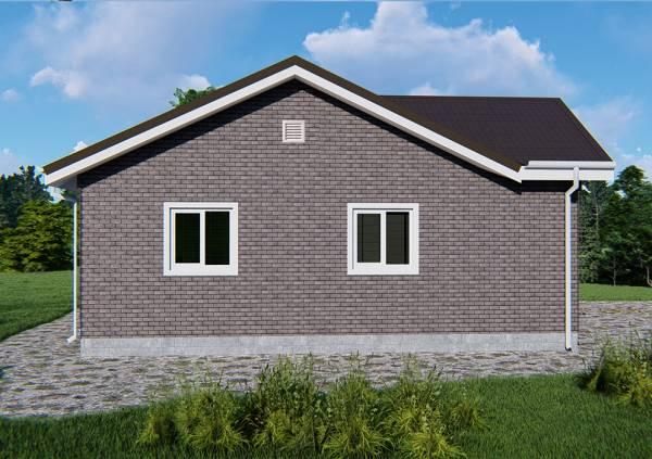 Визуализация уже отделанного дачного дома проект Воробьево размеры 9 на 11 метров.