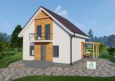 Дачный дом Березняки типовой проект