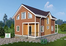 Дачный дом по типовму проекту Бирево