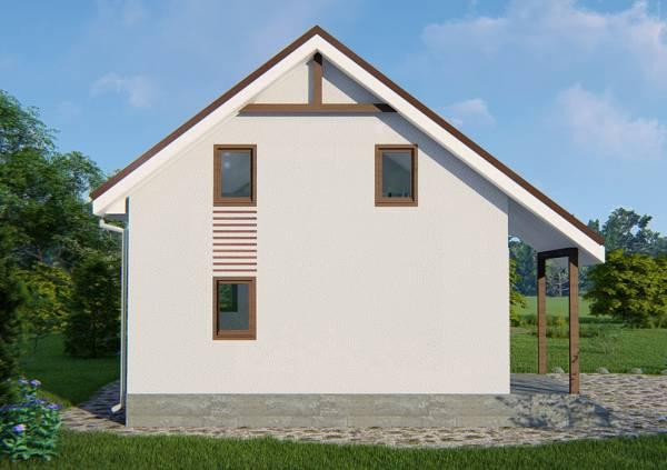 Фасад типового проекта дачного дома по проекту Бортниково.
