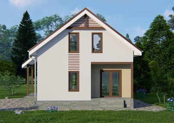 Фасад дачного дома проект Бортниково.