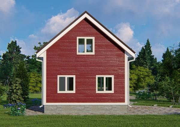 Фасаддачного дома проект Кошелево