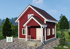 Фотография дачного дома по проекту Кошелево