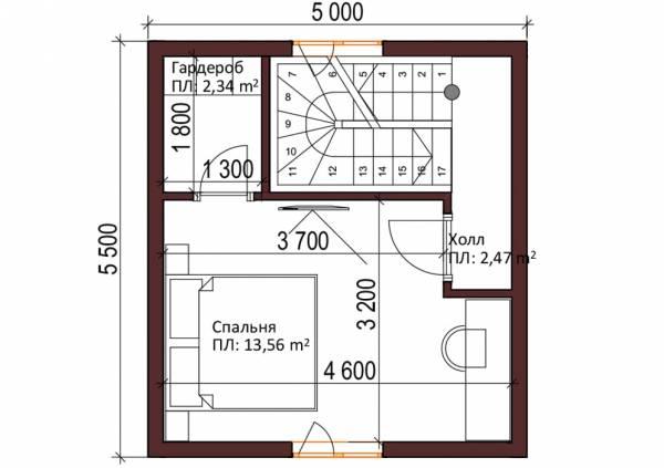 Второй этаж дачного дома проект Кузьмино.