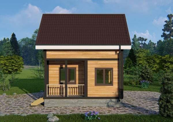 Фасад дачного дома проект Кузьмино.