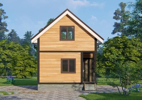 Дачный дом проект Кузьмино, вид сбоку.