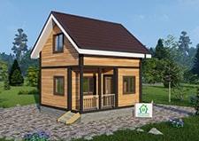 Дачный дом Кузьмино проект для строительства общий вид на дачный дом.