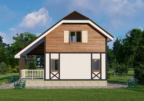 Дачный дом фасад проекта Ладыгино