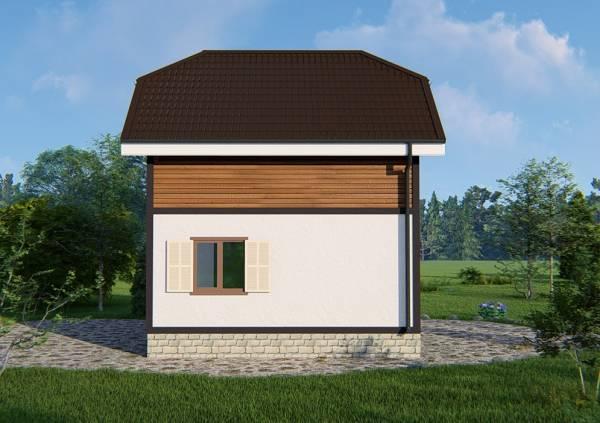 Фотография с боку дачного дома проект Ладыгино