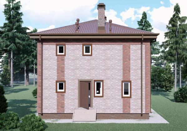 Вид с боку двухэтажного коттеджа проект Белоозерск.