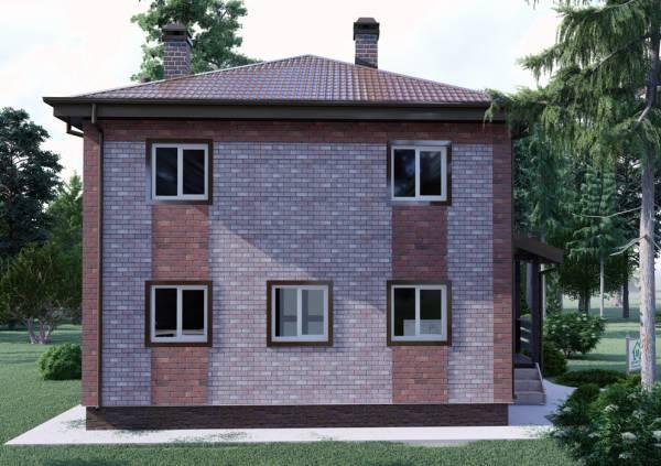Фасад двухэтажного коттеджа проект Белоозерск.