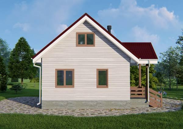 6 на 8 проект дачного дома Буденовец.