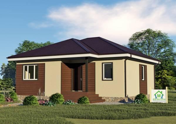 Одноэтажный дачный дом 10х10 проект Суханово