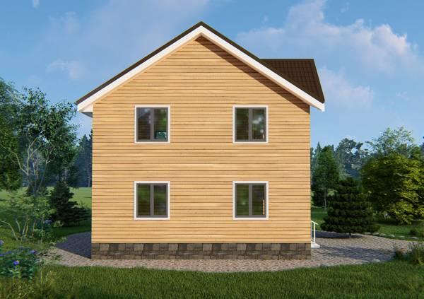 Четыре окна, вид на фасад дома 8х9 проект Нахабино