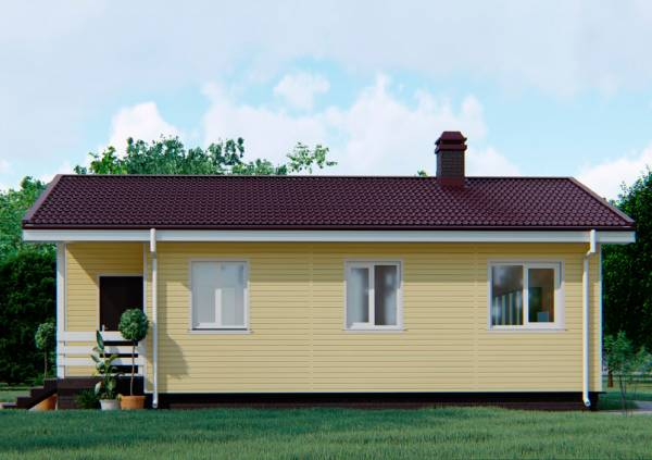 Фасад дачного дома размером 8 на 12 метров проект Добрыниха.
