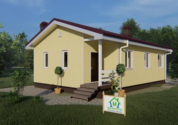 Дачный одноэтажный дом 8х12 для постоянного проживания проект Добрыниха.