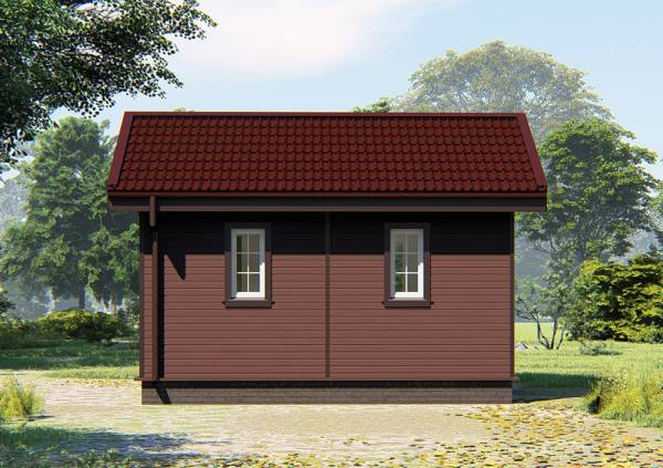 Фасад и отделка фасада маленького дачного дома проект Якшино.