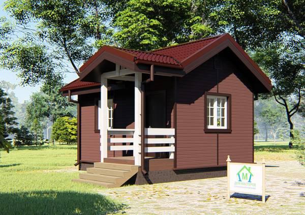 Маленький дом для дачи проект Якшино.