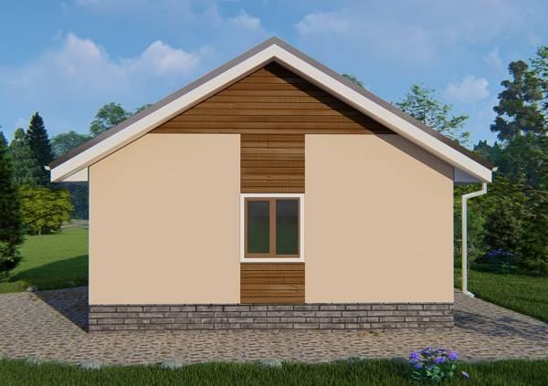 Двуцветный фасад дачного дома по проекту Луч.