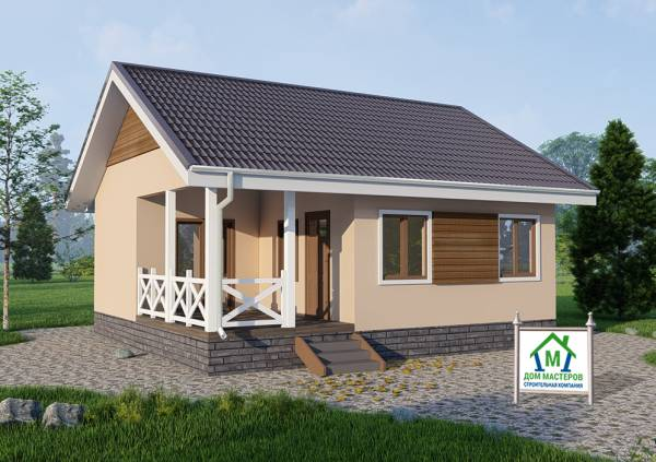 Одноэтажный дачный дом 7,5 на 8,5 проект Луч.