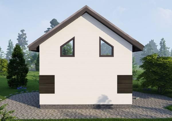 Красивый и интересный фасад фотография проекта дачного дома Любучаны.