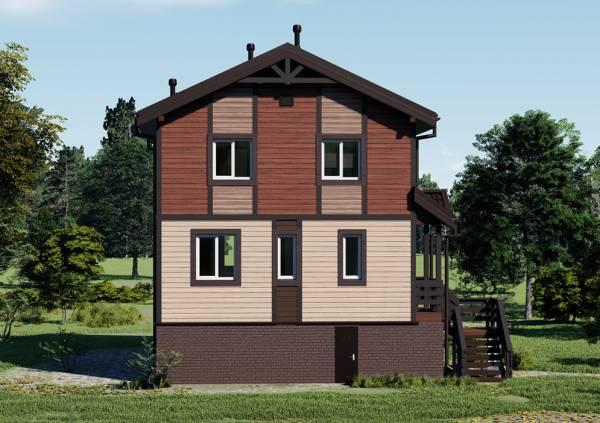 Дом два этажа с цокольным этажом проект Молоди
