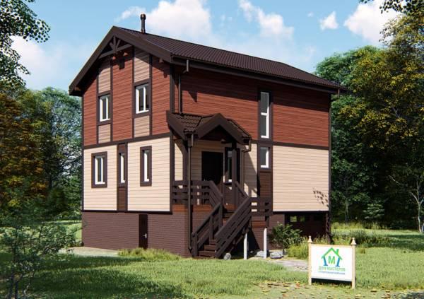 Двухэтажный коттедж проект Молоди