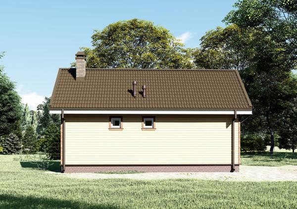 Визуализация проекта дачного одноэтажного дома проект Орлово