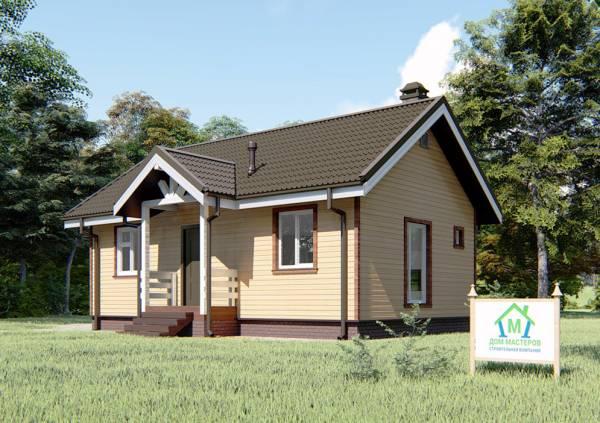 Одноэтажный дачный дом проект Орлово