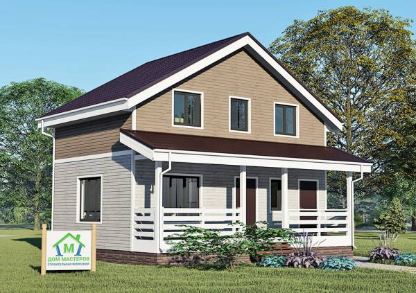 Дачный дом проект Березки 6х9