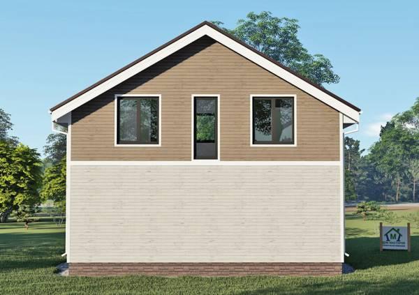 Вариант фасада дачного дома 6 на 9 проект Березки