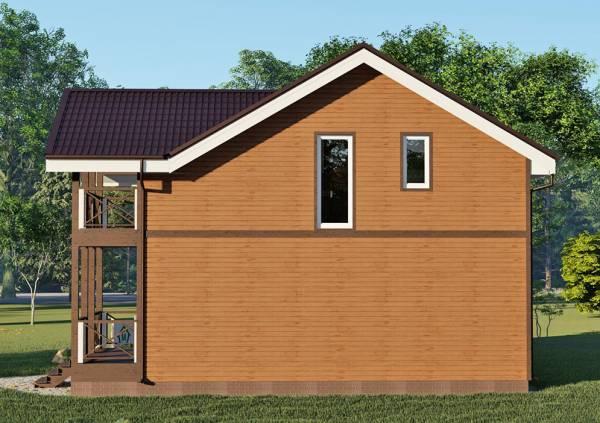 Северная стена дома для постоянного проживания коттедж Машино