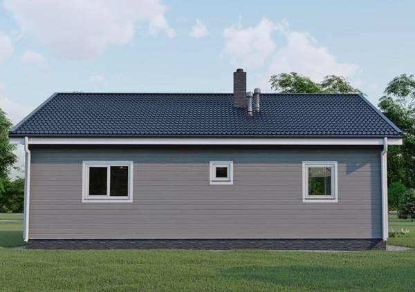 Односкатная крыша дома 11 на 12 проект Беляево.