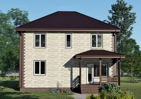 Второй вход небольшая терраса дома 10х10 проект Менделеево