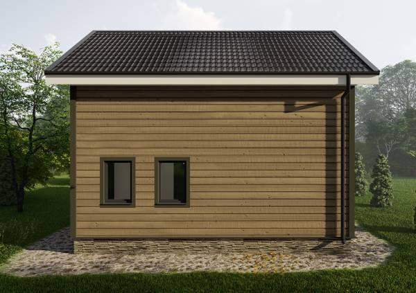 Вид на кровлю дачного дома проекта Родники размером 7,5х7,8