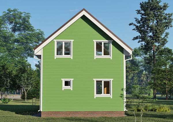 Фасад три окна и окно в санузел дачный дом  6,25х6,25 проект Зеленоградский