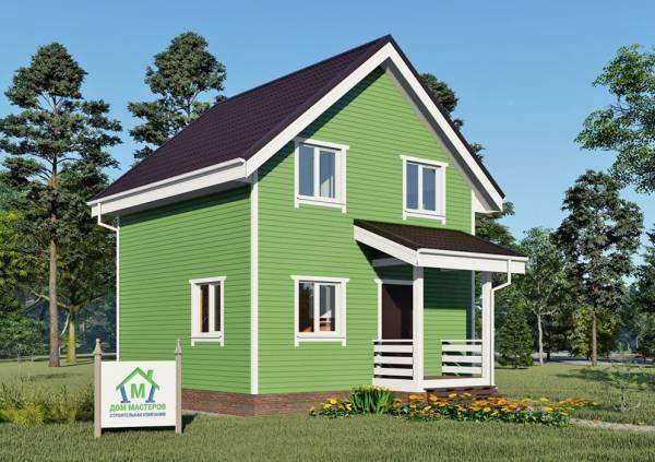Дачный дом с мансардным этажом 6,25х6,25 проект Зеленоградский