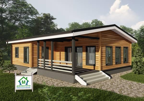 Одноэтажный дачный дом 6х10,5 проект Лотошино