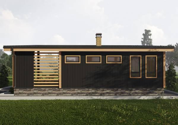 Современный дачный дом  6х8 проект Булгаково