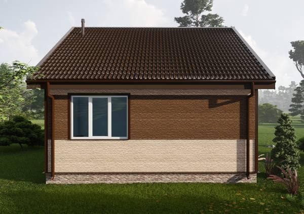 Большое окно на фасаде дачного одноэтажного дома проект Ершово
