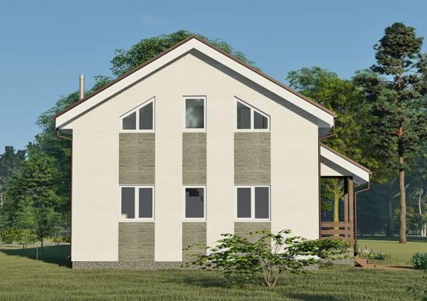 Общий вид дома с остеклением 6 окон