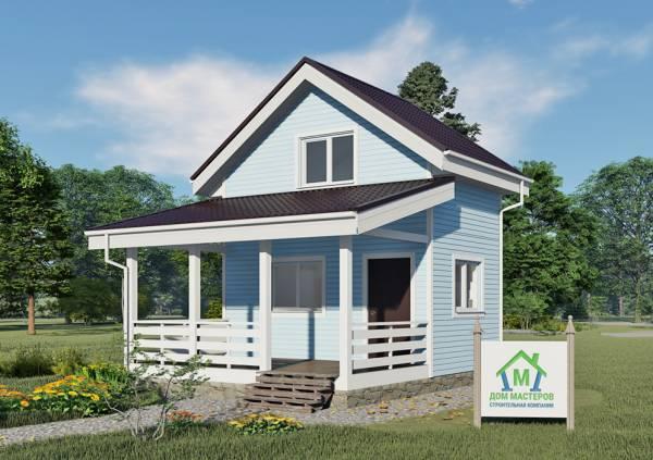 Маленький дом 3,5х5,2 внешний вид.